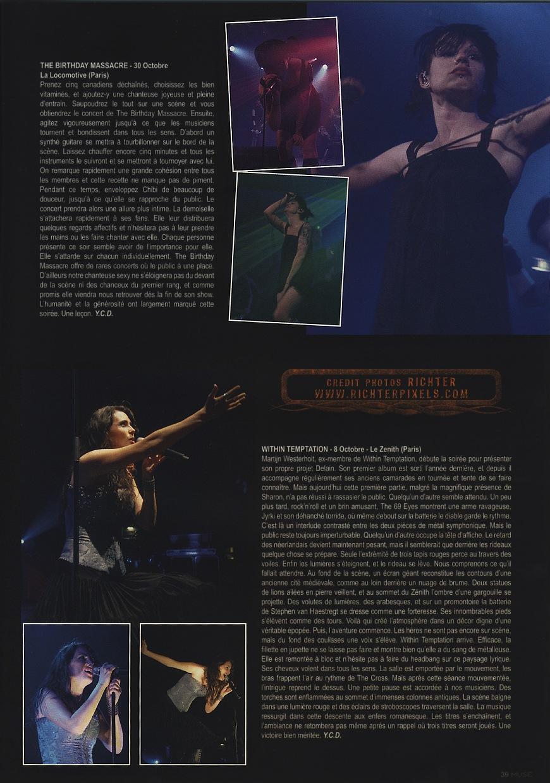 Reviews WITHIN TEMPTATION, VIVE LA FETE, ELECTRELANE, etc RichterLDM30-concerts2